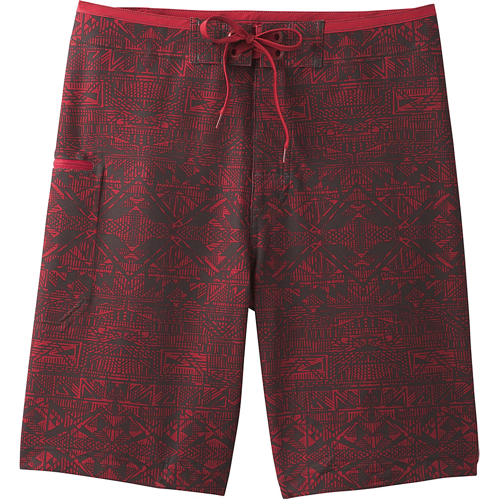 PrAna Catalyst Shorts 35 - Crimson Cabana - PrAna Mens Apparel - Apparel & Footwear, Men's Apparel