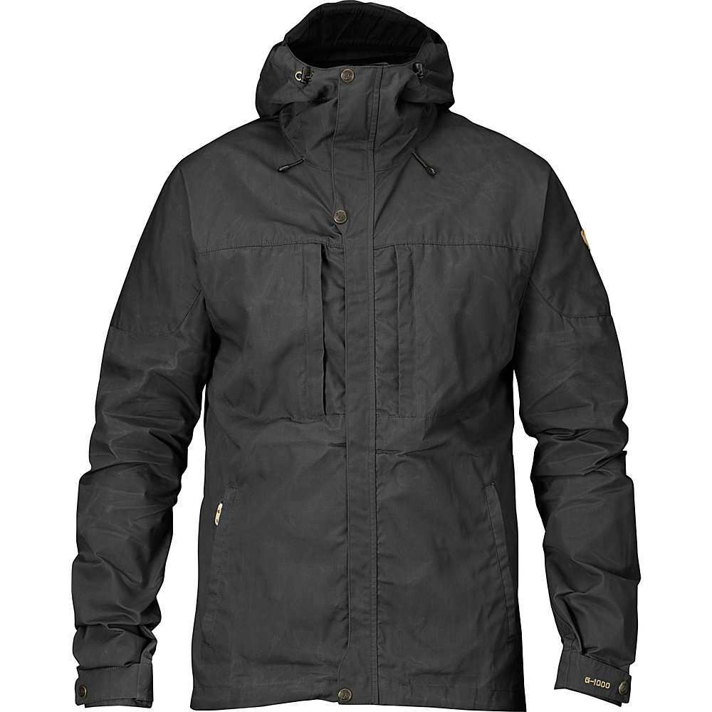 Fjallraven Skogso Jacket L - Dark Grey - Fjallraven Mens Apparel - Apparel & Footwear, Men's Apparel