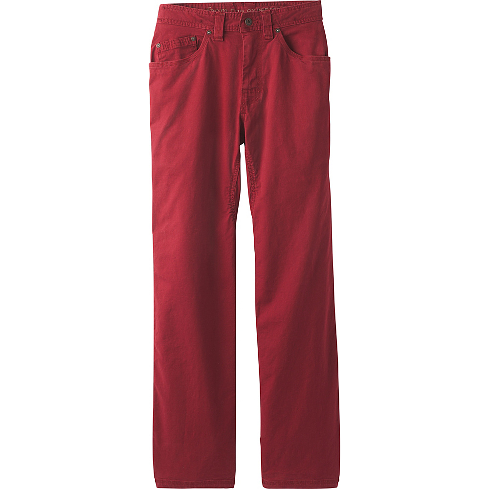 PrAna Bronson Pants - 34 Inseam 36 - Crimson - PrAna Mens Apparel - Apparel & Footwear, Men's Apparel