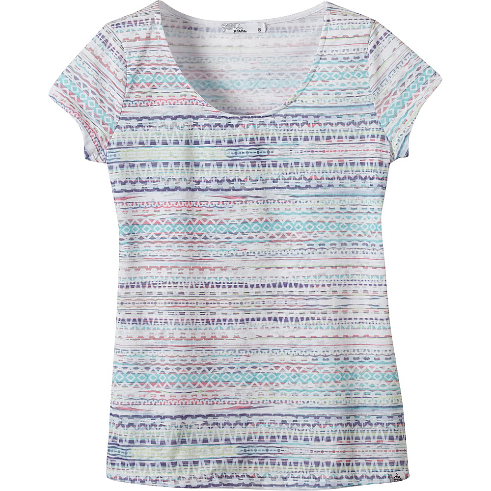 PrAna Garland Tee L - White - PrAna Womens Apparel - Apparel & Footwear, Women's Apparel
