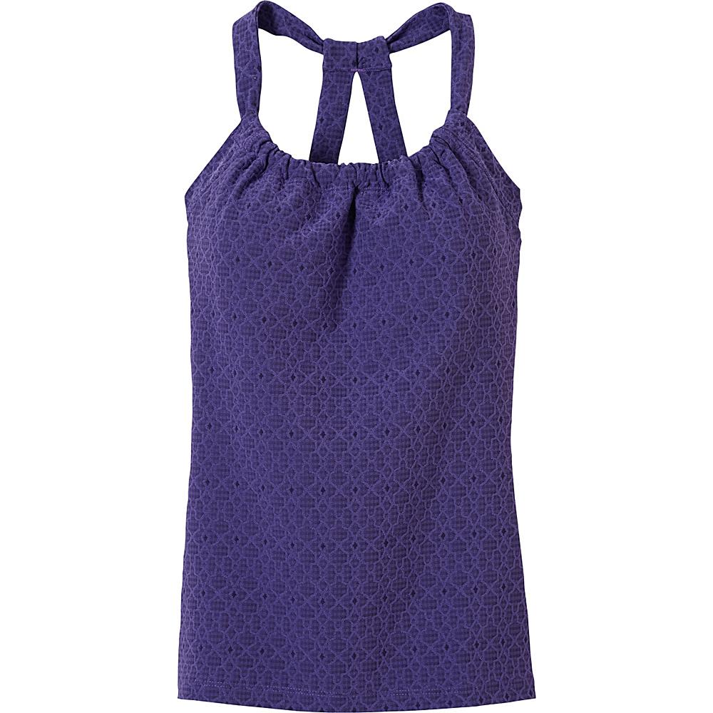 PrAna Quinn Jacquard Top S - Violet Jacquard - PrAna Womens Apparel - Apparel & Footwear, Women's Apparel