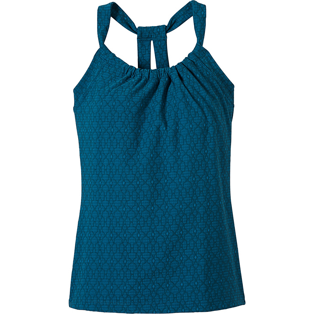 PrAna Quinn Jacquard Top M - Teal Jacquard - PrAna Womens Apparel - Apparel & Footwear, Women's Apparel