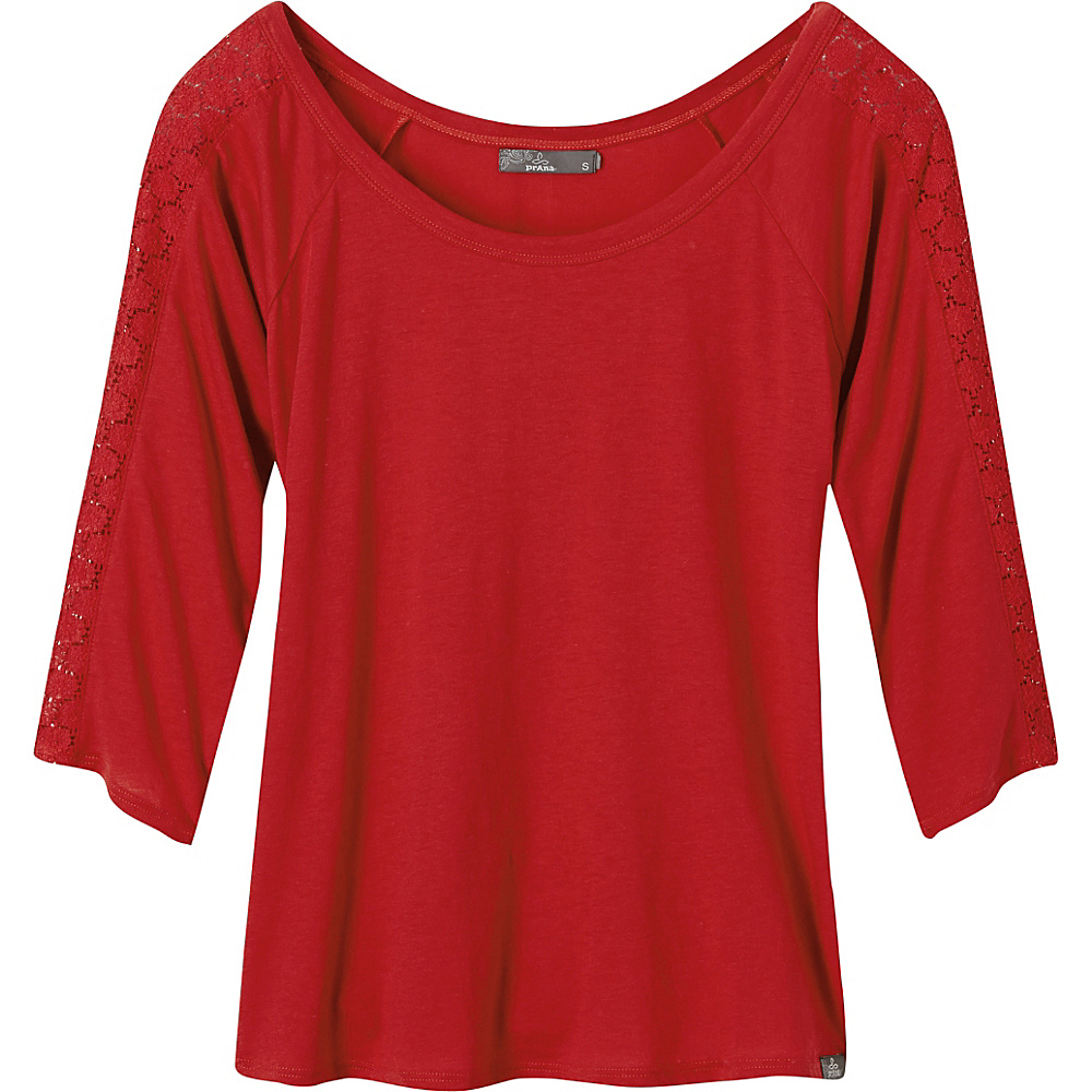 PrAna Alisana Top M - Sunwashed Red - PrAna Womens Apparel - Apparel & Footwear, Women's Apparel