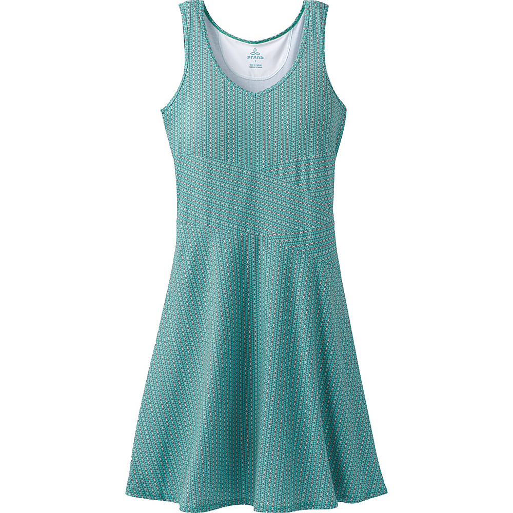 PrAna Amelie Dress L - Aquamarine Parade - PrAna Womens Apparel - Apparel & Footwear, Women's Apparel