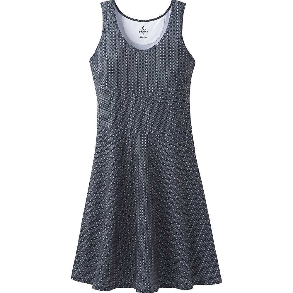 PrAna Amelie Dress XS - Charcoal Parade - PrAna Womens Apparel - Apparel & Footwear, Women's Apparel