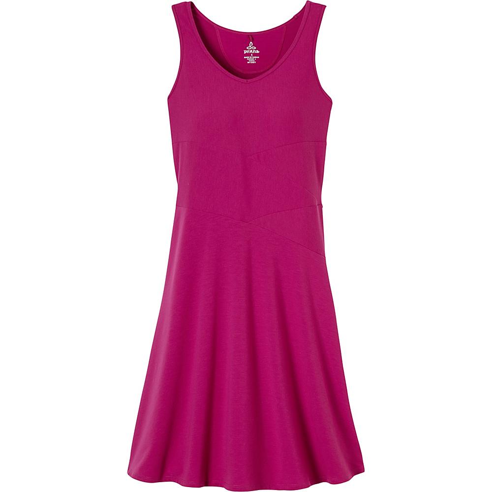 PrAna Amelie Dress S - Rich Fuchsia - PrAna Womens Apparel - Apparel & Footwear, Women's Apparel