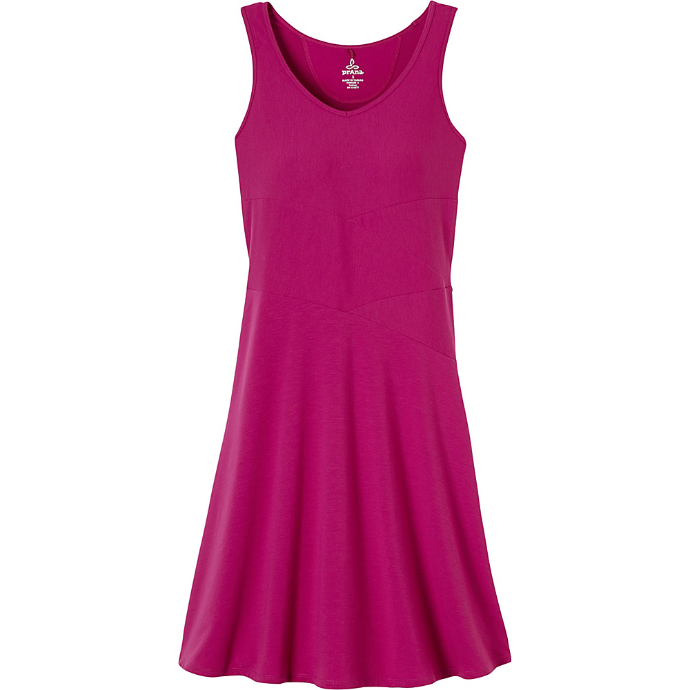 PrAna Amelie Dress M - Rich Fuchsia - PrAna Womens Apparel - Apparel & Footwear, Women's Apparel