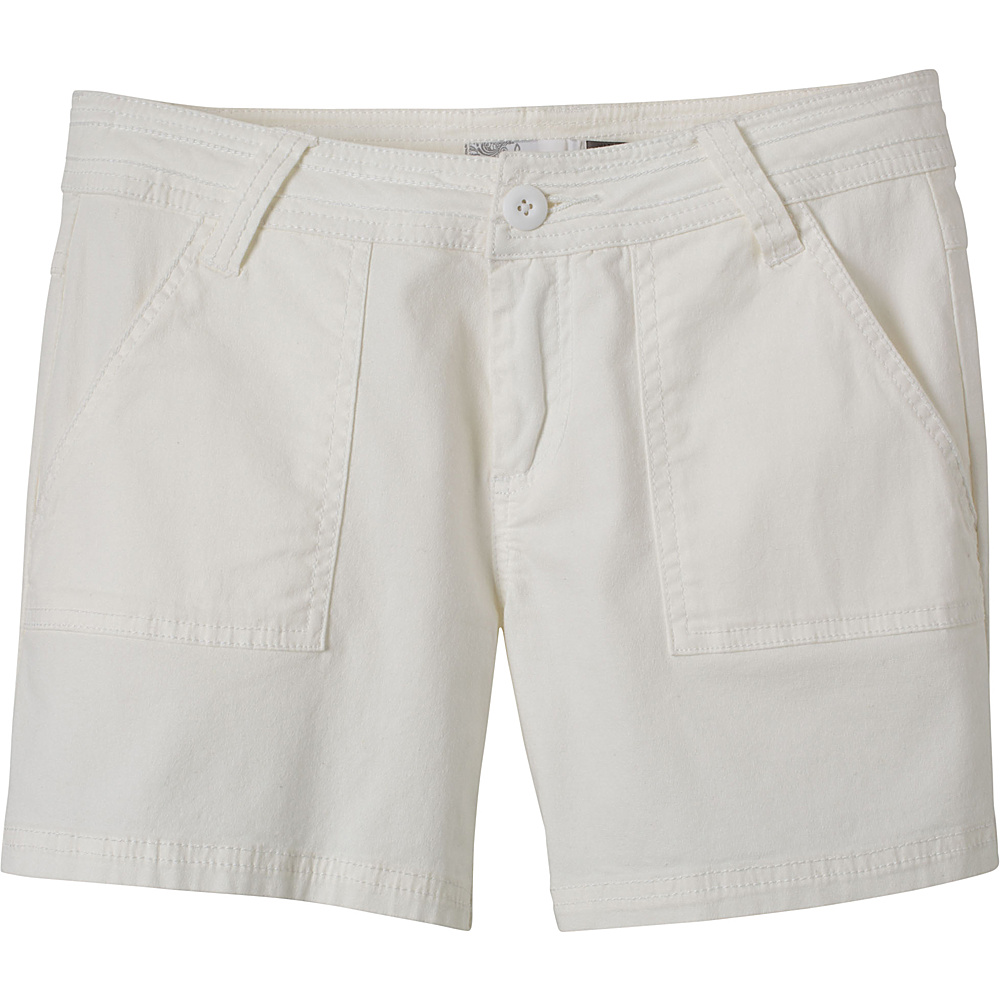 PrAna Tess Shorts 4 - White - PrAna Womens Apparel - Apparel & Footwear, Women's Apparel