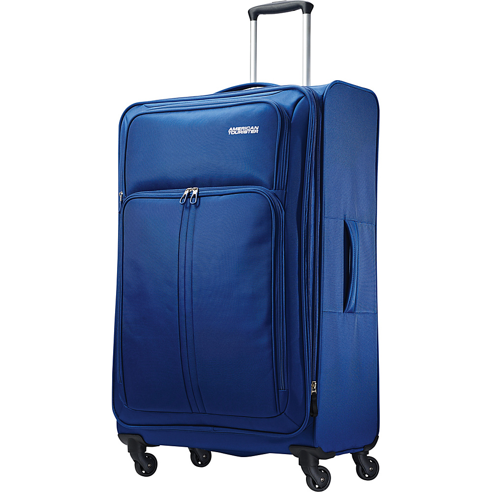 American Tourister Splash Spin LTE Spinner 28 Blue - American Tourister Softside Checked