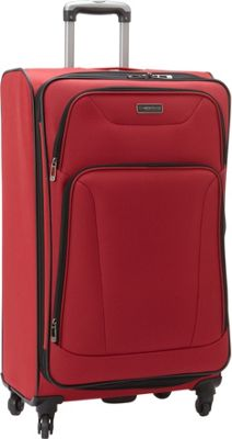 Heritage Wicker Park 28 inch Luggage Red - Heritage Softside Checked