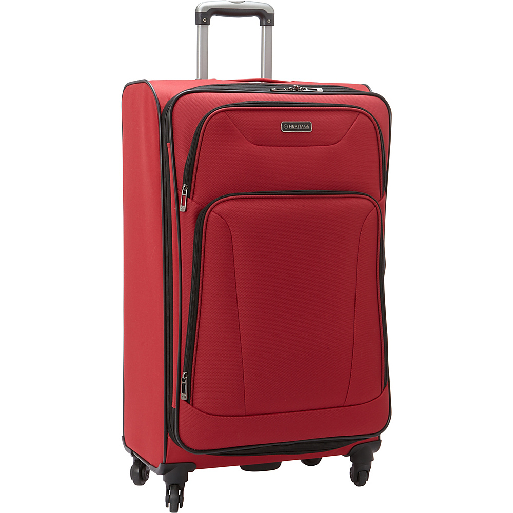 Heritage Wicker Park 28 Luggage Red Heritage Softside Checked