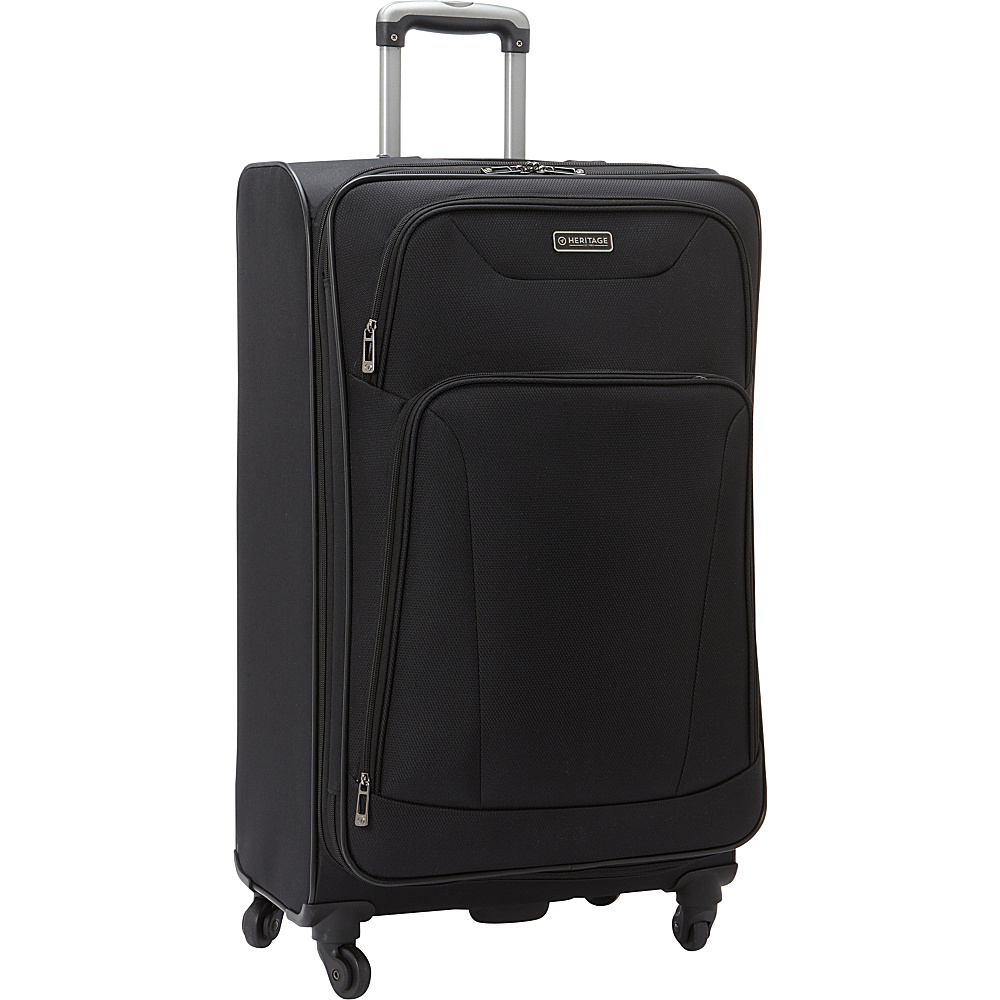 Heritage Wicker Park 28 Luggage Black Heritage Softside Checked