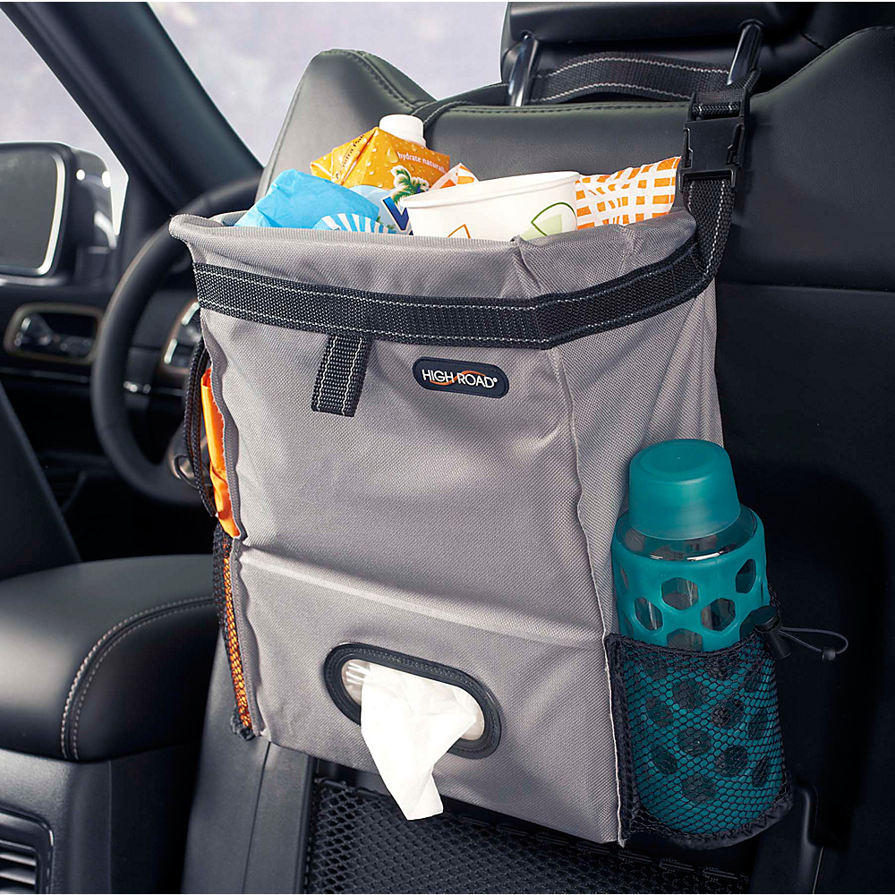 High Road Puff n Stuff Car Trash Bag Organizer Gray High Road Trunk and Transport Organization