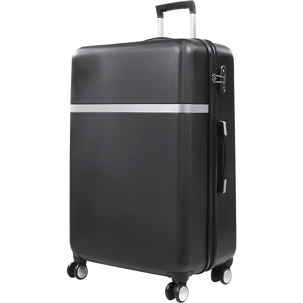Calvin Klein Luggage Libertad 2.0 28 Upright Hardside Spinner Black Calvin Klein Luggage Hardside Checked
