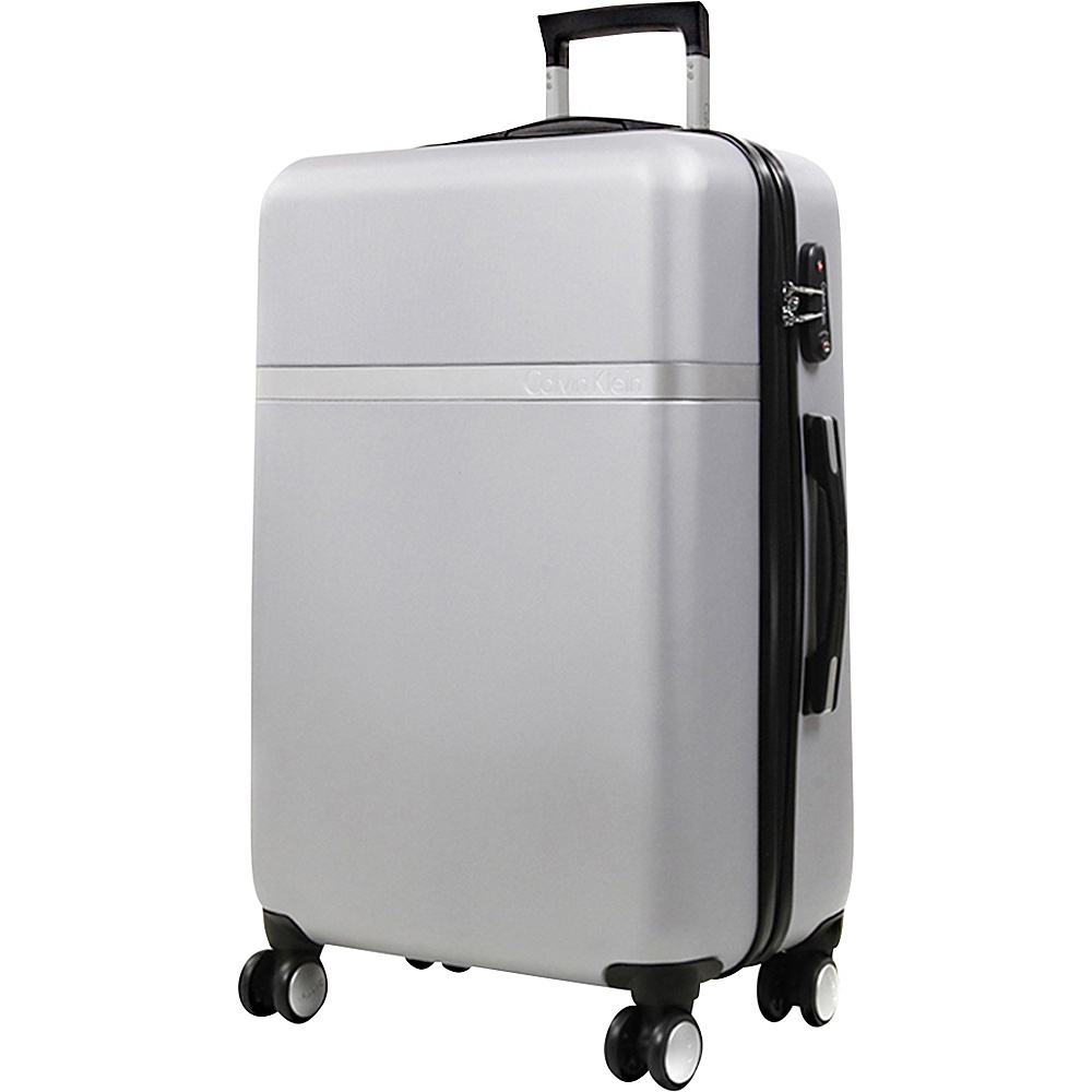 Calvin Klein Luggage Libertad 2.0 28 Upright Hardside Spinner Silver Calvin Klein Luggage Hardside Checked