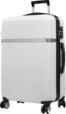 Calvin Klein Luggage Libertad 2.0 28 Upright Hardside Spinner White - Calvin Klein Luggage Hardside Checked