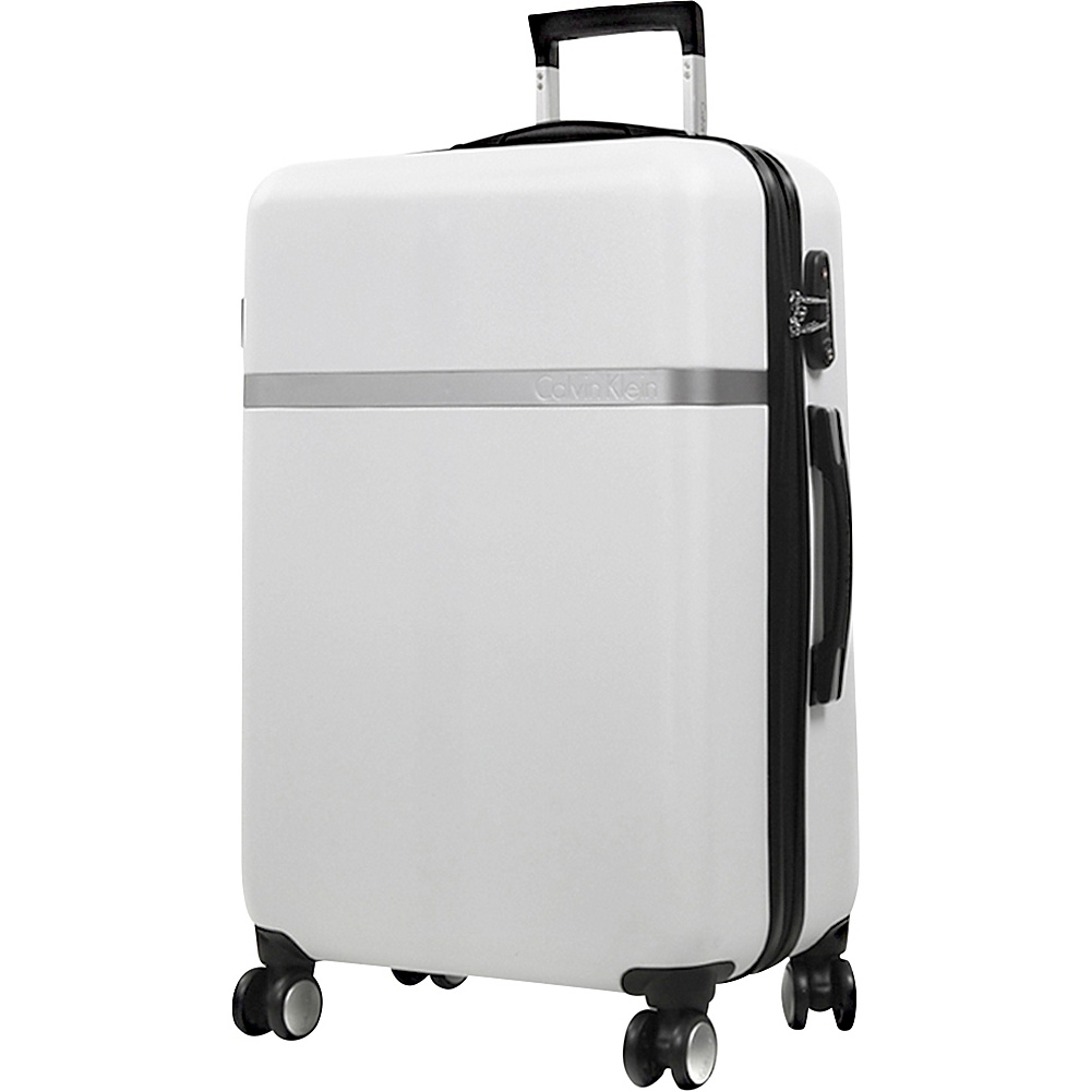 Calvin Klein Luggage Libertad 2.0 28 Upright Hardside Spinner White Calvin Klein Luggage Hardside Checked