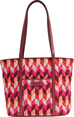 Vera Bradley Small Trimmed Vera- Retired Prints Bohemian Chevron with Claret - Vera Bradley Fabric Handbags