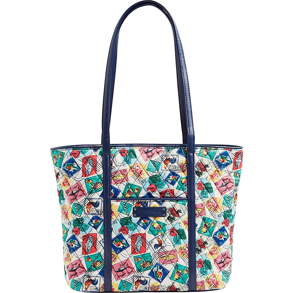 Vera Bradley Small Trimmed Vera- Retired Prints Cuban Stamps - Vera Bradley Fabric Handbags - Handbags, Fabric Handbags