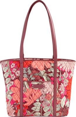 Vera Bradley Small Trimmed Vera- Retired Prints Bohemian Blooms with Claret - Vera Bradley Fabric Handbags