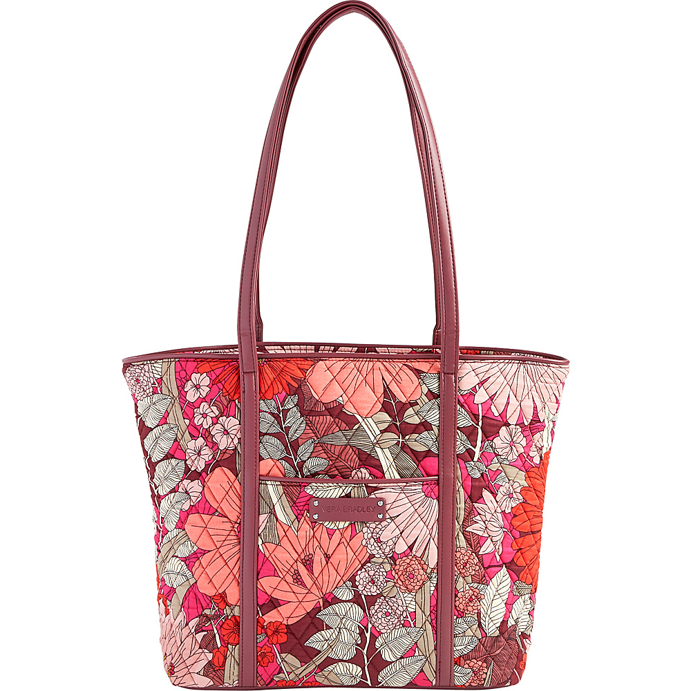 Vera Bradley Small Trimmed Vera- Retired Prints Bohemian Blooms with Claret - Vera Bradley Fabric Handbags - Handbags, Fabric Handbags