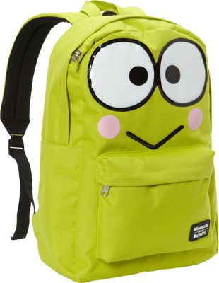 Loungefly Kerropi Large Face Backpack Bright Green - Loungefly Everyday Backpacks