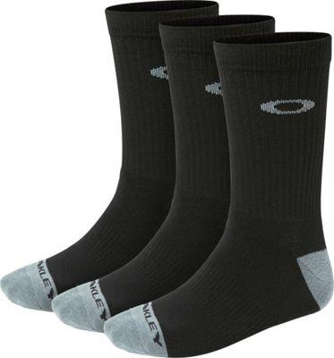 Oakley Performance Basic Crew Socks (3 pack) Jet Black - L - Oakley Legwear/Socks