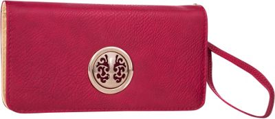 MKF Collection by Mia K. Farrow Bonnie Double-Zip Multiple Pocket Wallet Red - MKF Collection by Mia K. Farrow Women's Wallets