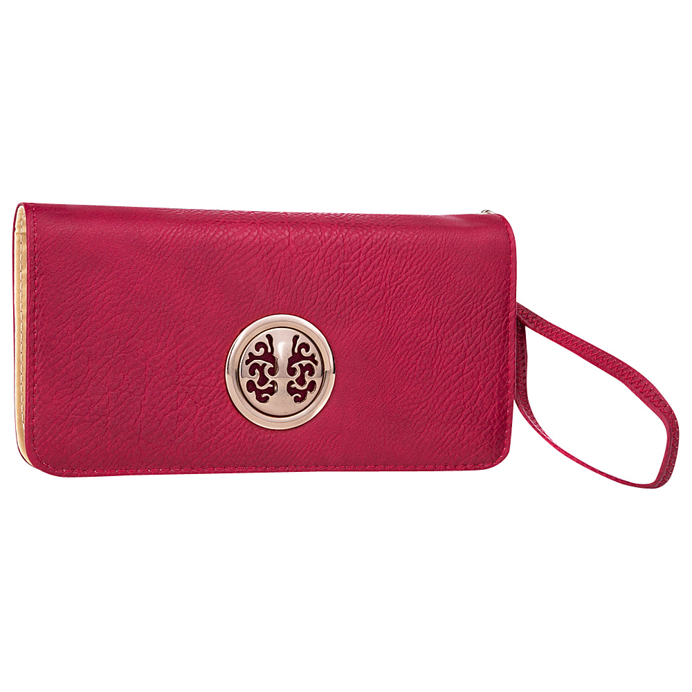 MKF Collection Bonnie Double Zip Multiple Pocket Wallet Red MKF Collection Women s Wallets