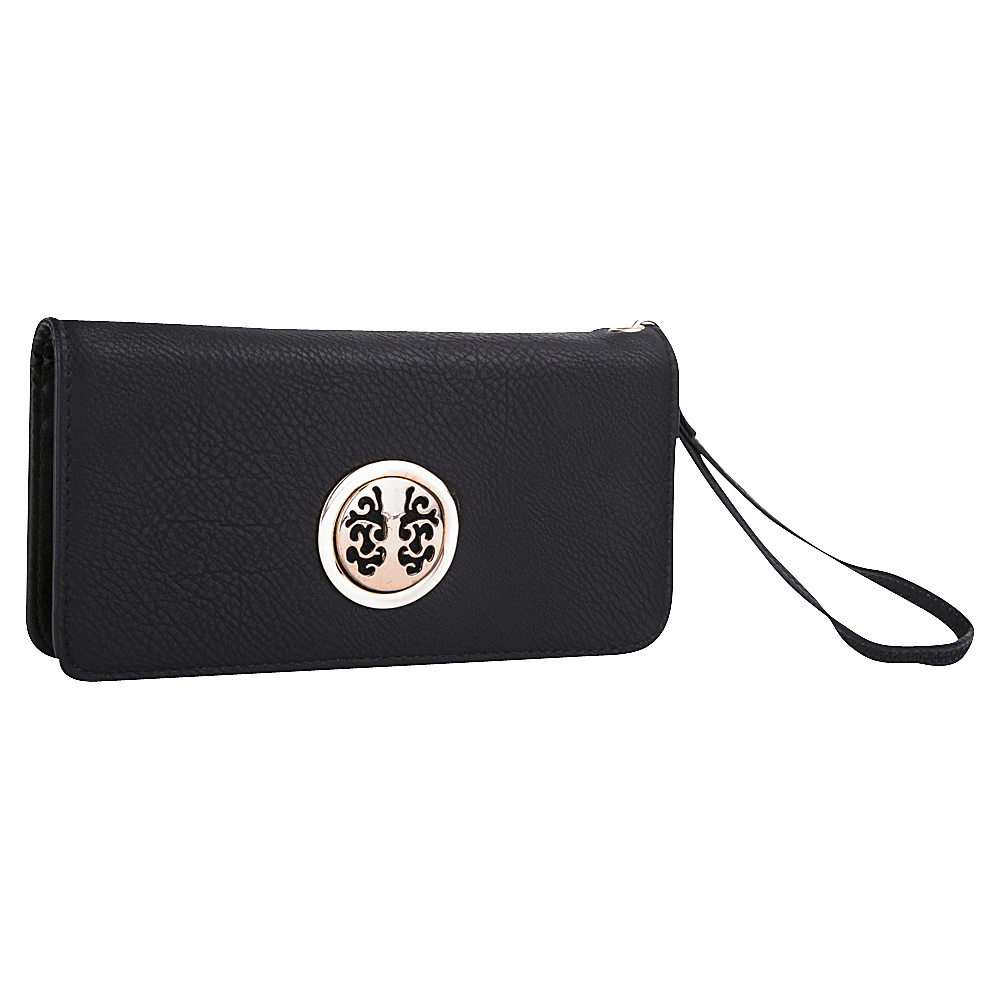 MKF Collection Bonnie Double Zip Multiple Pocket Wallet Black MKF Collection Women s Wallets