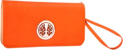MKF Collection by Mia K. Farrow MKF Collection by Mia K. Farrow Bonnie Double-Zip Multiple Pocket Wallet Orange - MKF Collection by Mia K. Farrow Women's Wallets