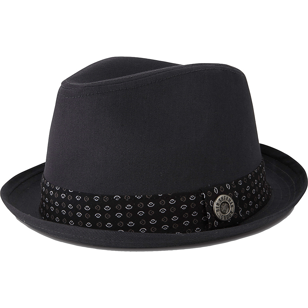 Ben Sherman Stingy Brim Trilby Hat Smoked Pearl - S/M - Ben Sherman Hats/Gloves/Scarves