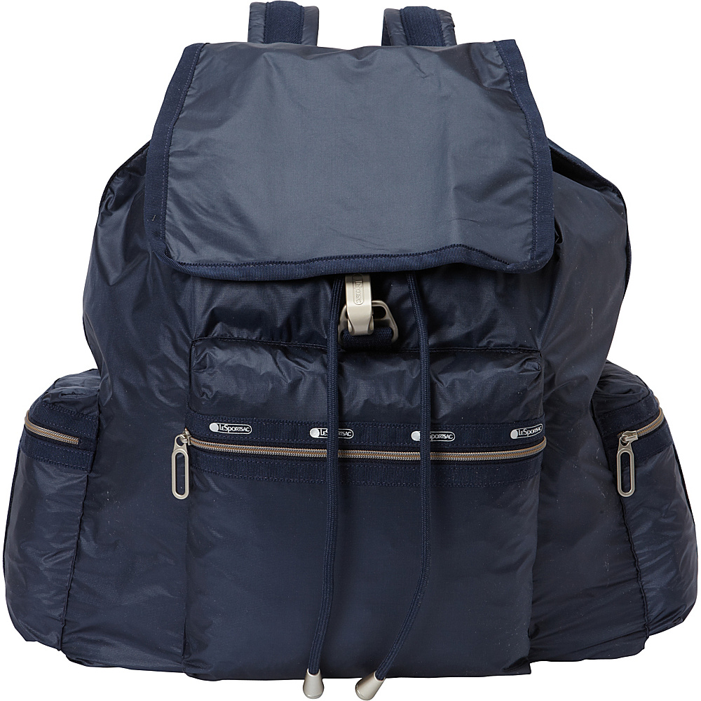 LeSportsac 3 Zip Voyager Backpack Classic Navy C LeSportsac Everyday Backpacks