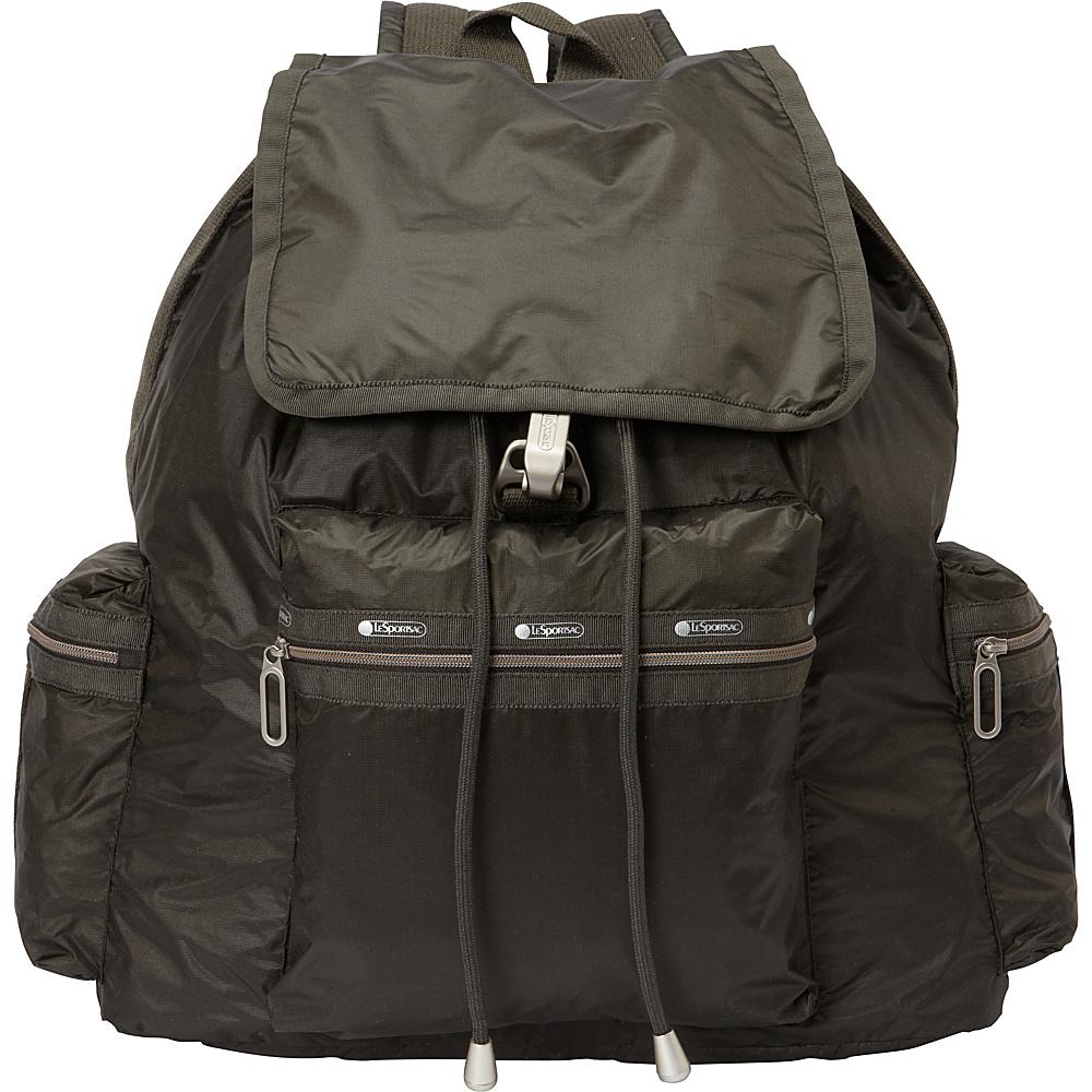 LeSportsac 3 Zip Voyager Backpack Gravel C LeSportsac Everyday Backpacks