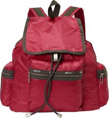 LeSportsac 3 Zip Voyager Backpack Cherries Jubilee C - LeSportsac Everyday Backpacks