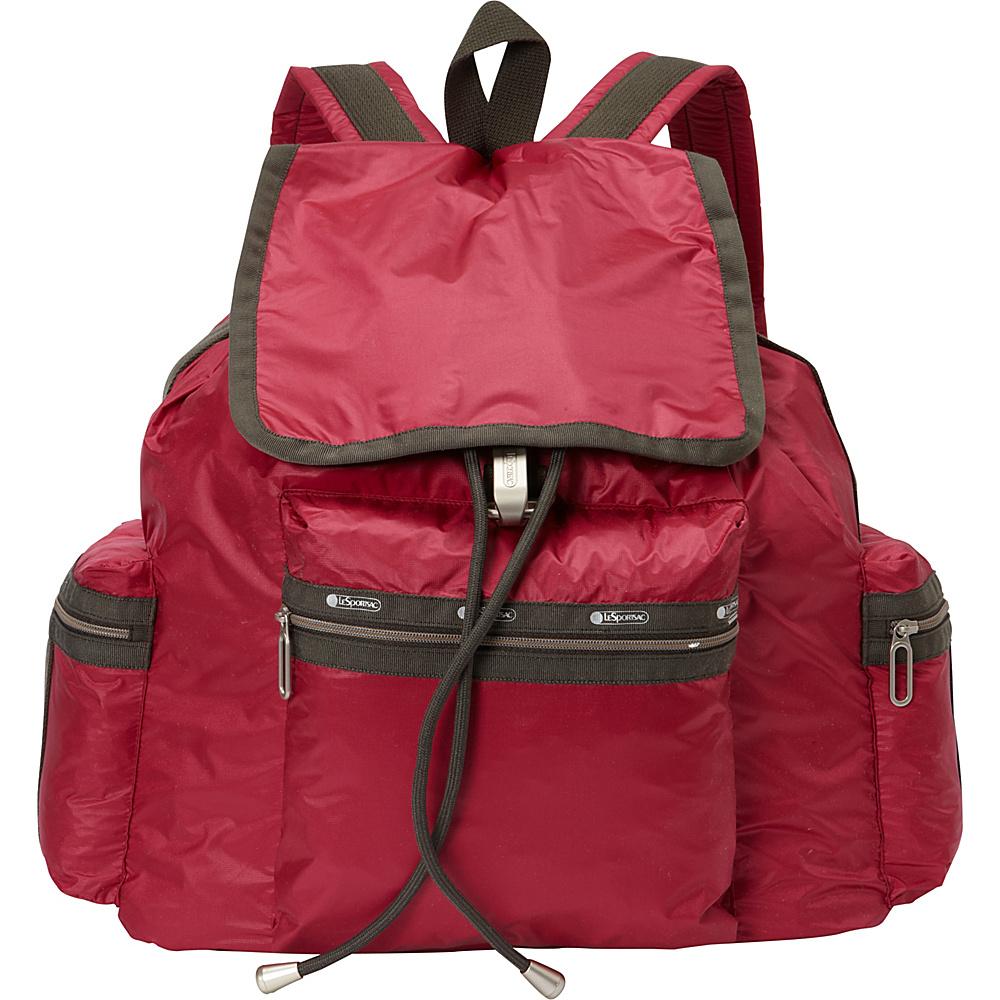 LeSportsac 3 Zip Voyager Backpack Cherries Jubilee C LeSportsac Everyday Backpacks