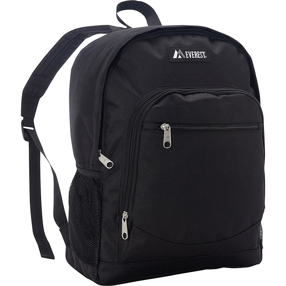Everest Casual Backpack with Side Mesh Pocket Black - Everest Everyday Backpacks - Backpacks, Everyday Backpacks