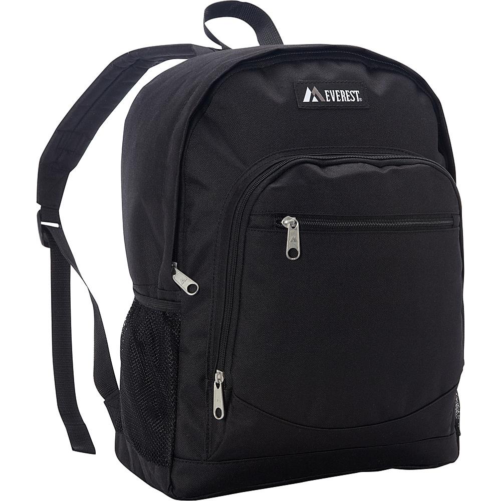 Everest Casual Backpack with Side Mesh Pocket Black - Everest Everyday Backpacks - Backpacks, Everyday Backpacks
