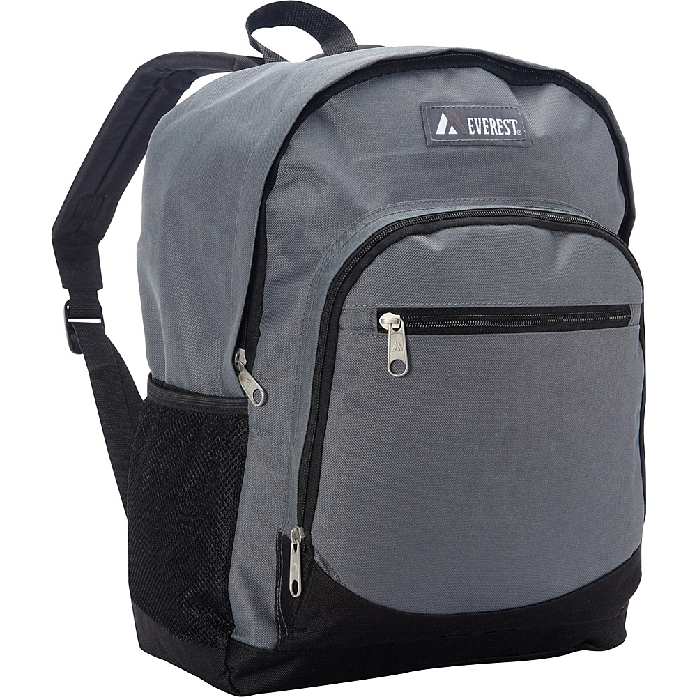 Everest Casual Backpack with Side Mesh Pocket Gray/Black - Everest Everyday Backpacks - Backpacks, Everyday Backpacks