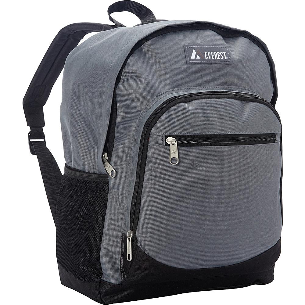 Everest Casual Backpack with Side Mesh Pocket Gray/Black - Everest Everyday Backpacks - Backpacks, Everyday Backpacks