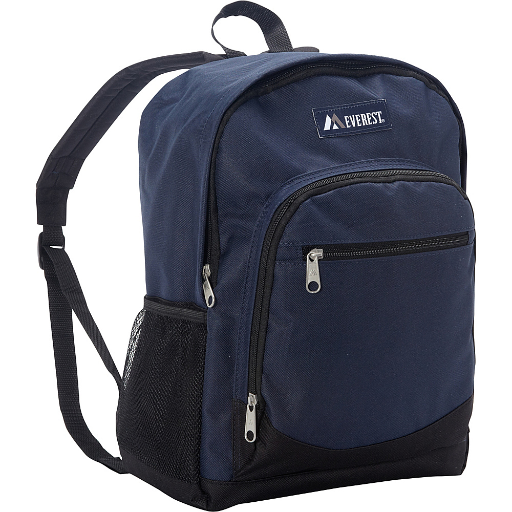 Everest Casual Backpack with Side Mesh Pocket Navy/Black - Everest Everyday Backpacks - Backpacks, Everyday Backpacks