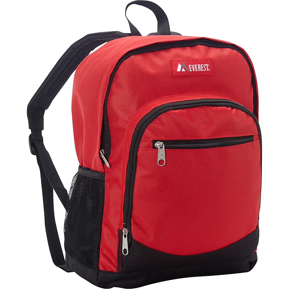 Everest Casual Backpack with Side Mesh Pocket Red/Black - Everest Everyday Backpacks - Backpacks, Everyday Backpacks
