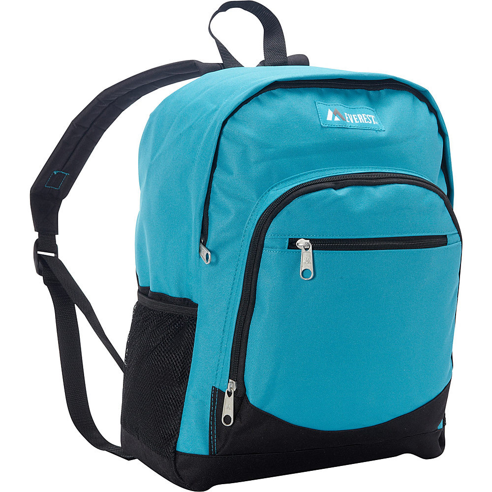 Everest Casual Backpack with Side Mesh Pocket Turquoise / Black - Everest Everyday Backpacks - Backpacks, Everyday Backpacks