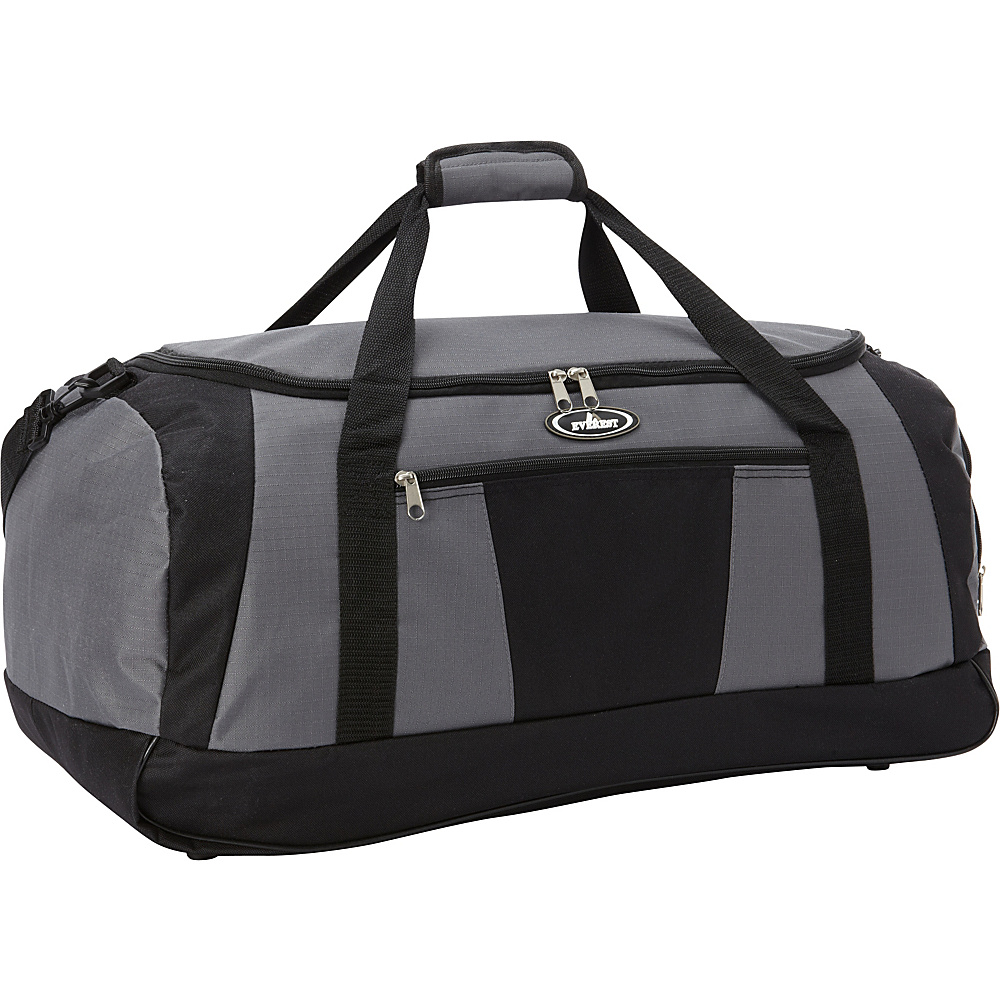 Everest Casual Duffel with Wet Pocket (Large) Gray/Black - Everest Travel Duffels - Duffels, Travel Duffels