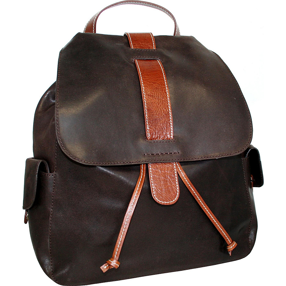 Nino Bossi Bonnie the Kid Laptop Backpack Brown - Nino Bossi Laptop Backpacks