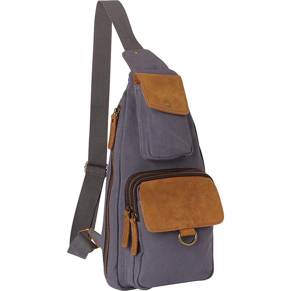 Vagabond Traveler Long Shape Slide Shoulder Chest Pack Blue Grey - Vagabond Traveler Slings - Backpacks, Slings