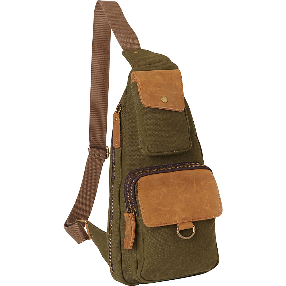 Vagabond Traveler Long Shape Slide Shoulder Chest Pack Green - Vagabond Traveler Slings - Backpacks, Slings