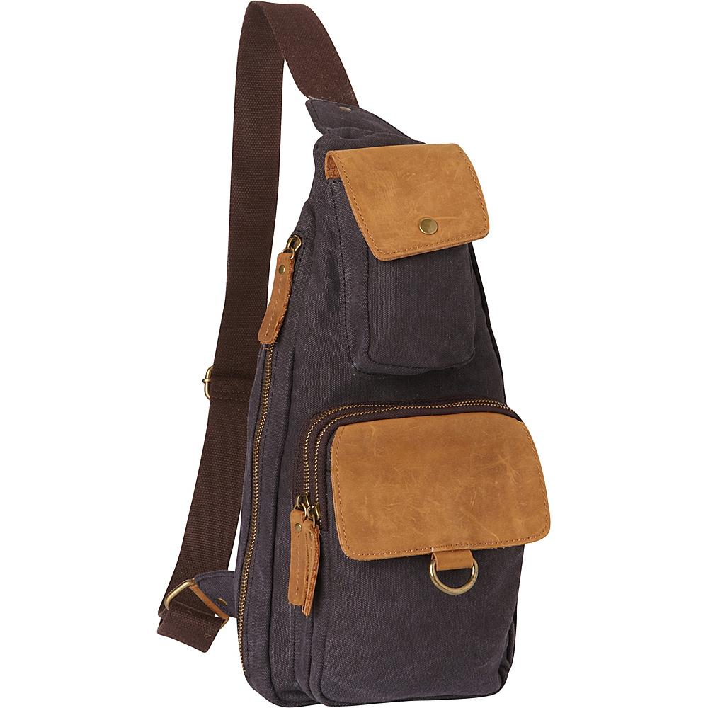 Vagabond Traveler Long Shape Slide Shoulder Chest Pack Grey - Vagabond Traveler Slings - Backpacks, Slings