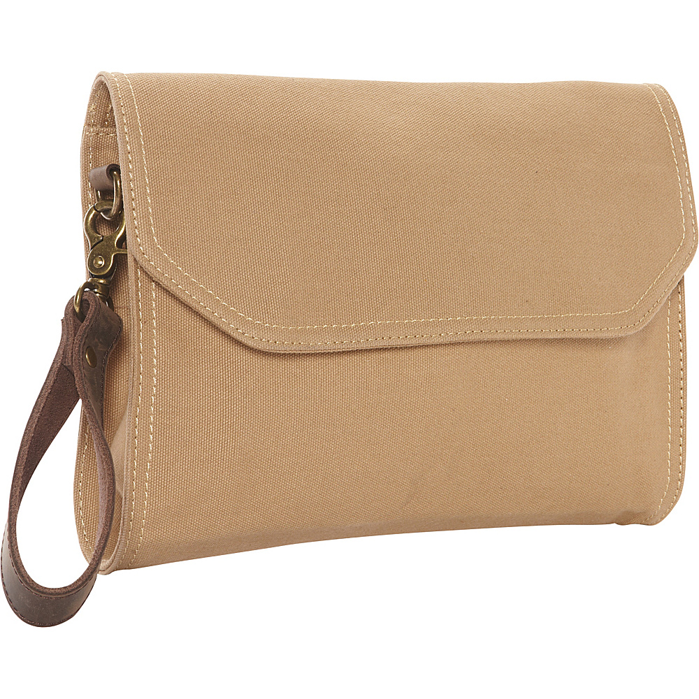 Vagabond Traveler Cotton Canvas Casual Style Shoulder Tote Khaki - Vagabond Traveler Messenger Bags - Work Bags & Briefcases, Messenger Bags