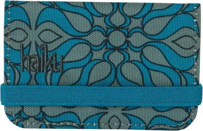 Haiku RFID Mini Wallet Sea Blue Geo Print - Haiku Women's Wallets